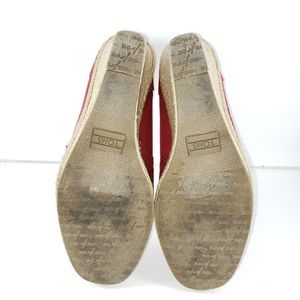TOMS Shoes - TOMS Red Peep Toe Espadrille Wedges Size 8M